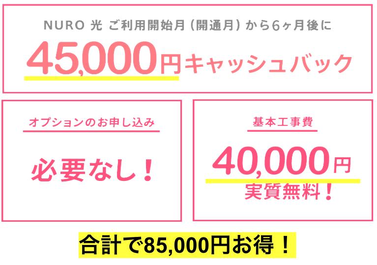 【保存版】NURO光の引越しキャンペーンで85,000円お得に申し込みできる!